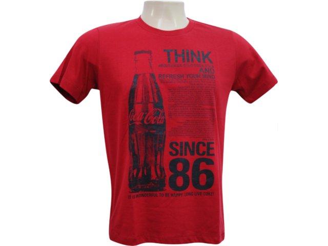 Camiseta Masculina Coca-cola Shoes 353202423 Vermelho