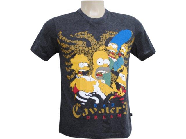Camiseta Masculina Cavalera Clothing 01.01.5856 Chumbo