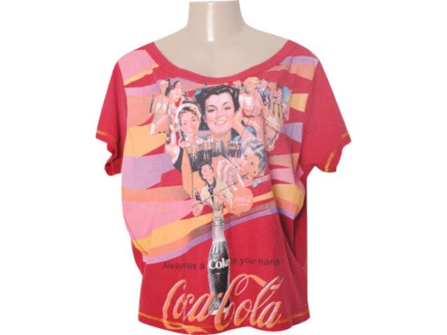 Camiseta Feminina Coca-cola Clothing Coca-cola 343200304 Vermelho