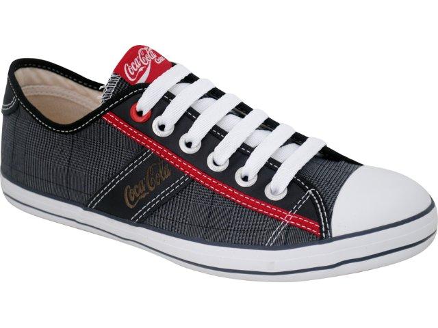 Tênis Masculino Coca-cola Shoes C0101702 Xadrez Preto
