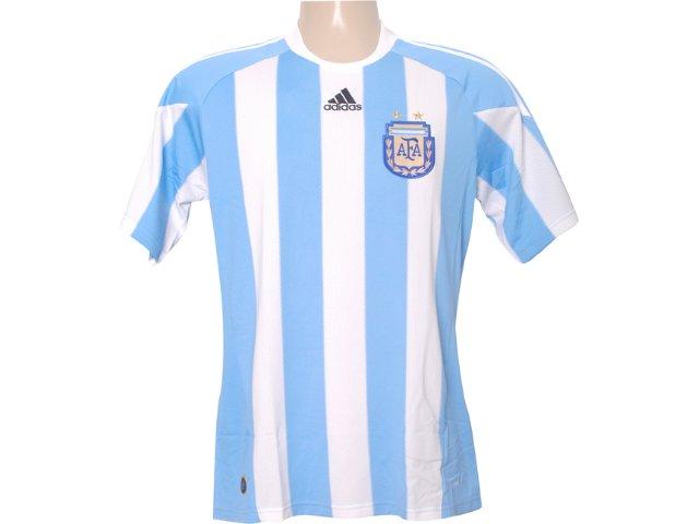 Camiseta Masculina Adidas P47066 Argentina Branco/azul
