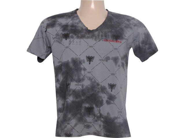 Camiseta Masculina Cavalera Clothing 01.01.5695 Chumbo