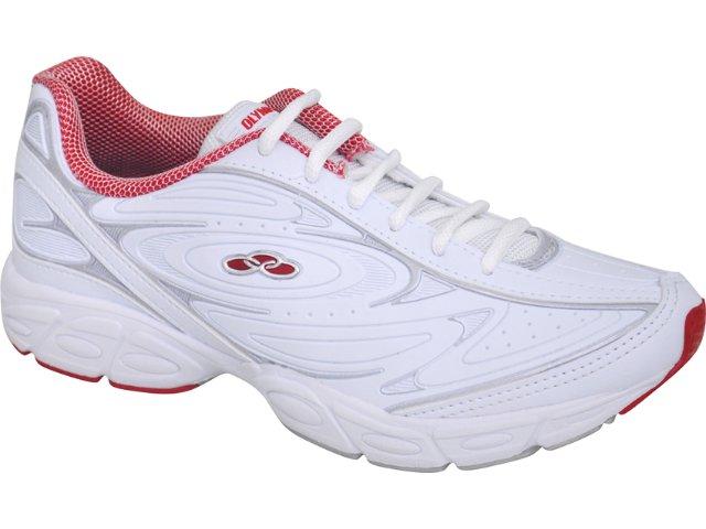 Tênis Feminino Olympikus Beta 639 Branco/vermelho