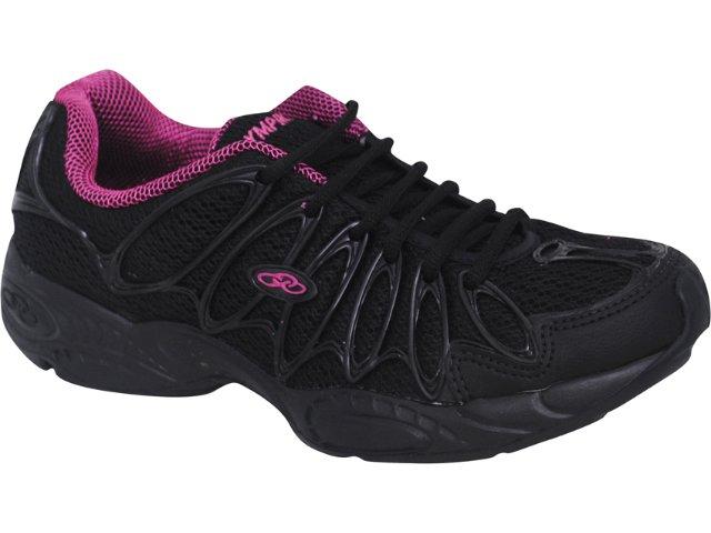 Tênis Feminino Olympikus Twister 300 Preto/pink