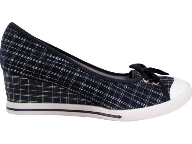 Sapato Feminino Dijean 602 Listrado Preto