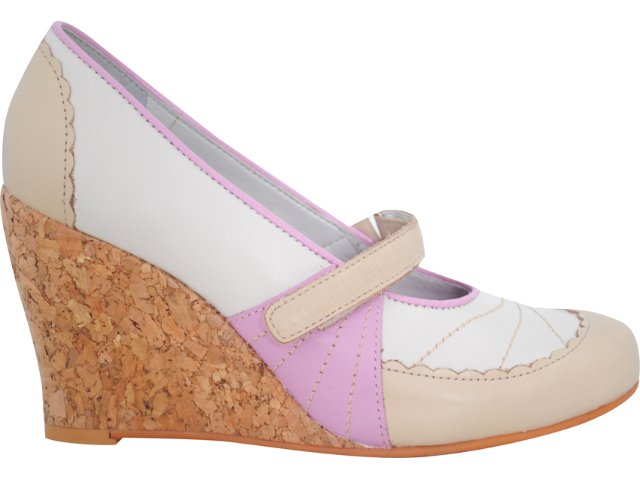 Sapato Feminino Tanara 3283 Fibra/rosa