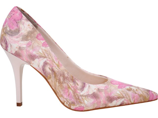 Sapato Feminino Vizzano 1071200 Multi Bege