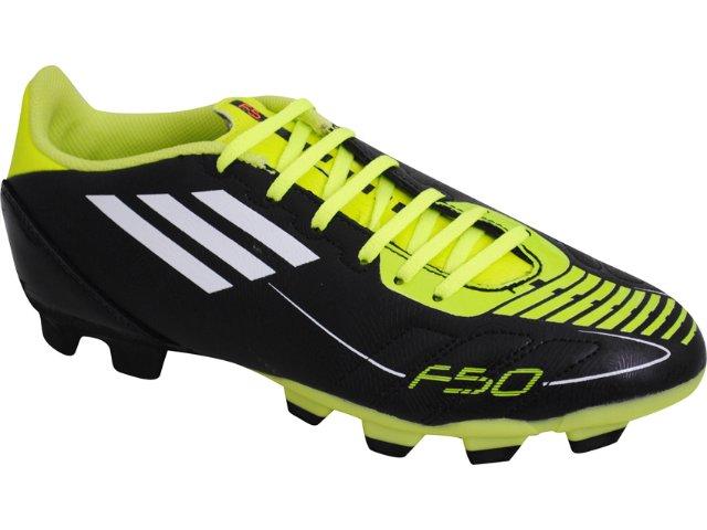 Chuteira Masculina Adidas f5 Trx U44277 Preto/verde