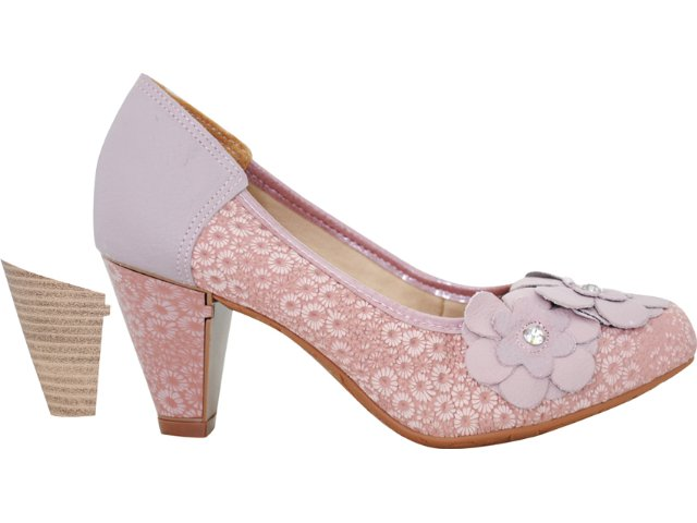 Sapato Feminino Dakota 3221 Rosa Antigo