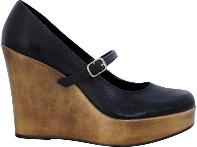 Sapato Feminino Via Marte 07-5602 Preto
