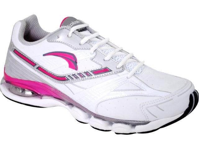 Tênis Feminino Kolosh 9742 Prata/pink