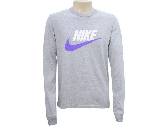Camiseta Masculina Nike 336241-050 Cinza