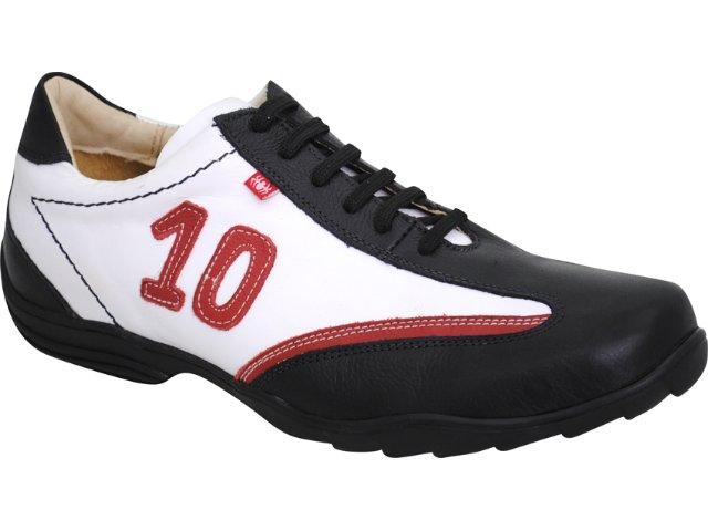 Sapato Masculino Ferricelli 340 Preto/branco