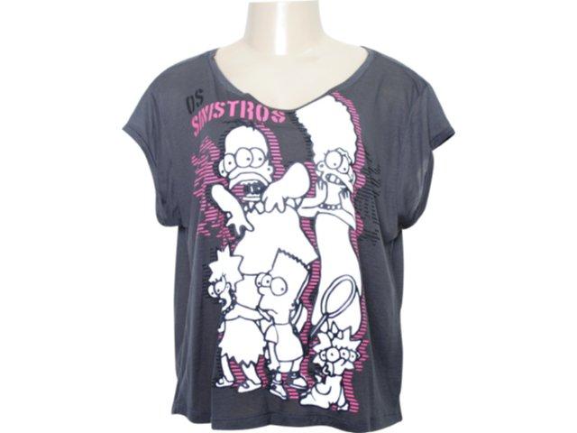 Camiseta Feminina Cavalera Clothing 09.02.0808 Chumbo