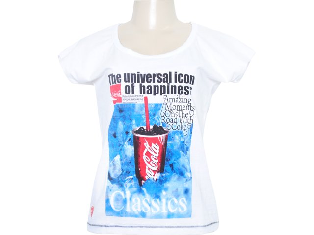 Camiseta Feminina Coca-cola Shoes 343200359 Branco