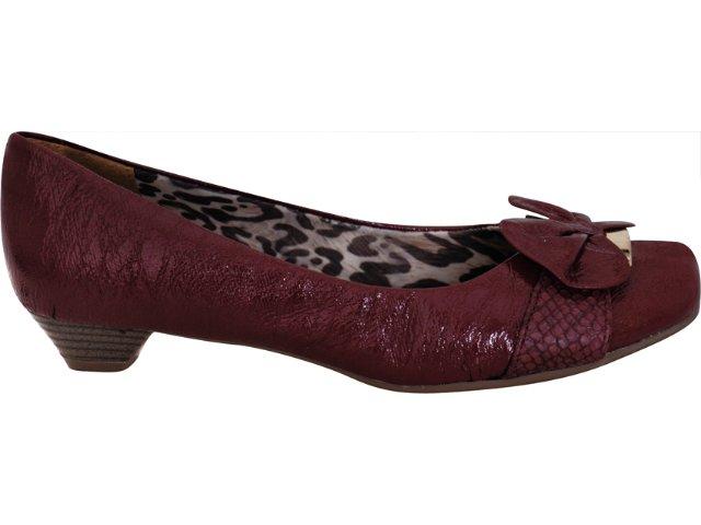 Sapato Feminino Via Marte 11-7109 Bordo