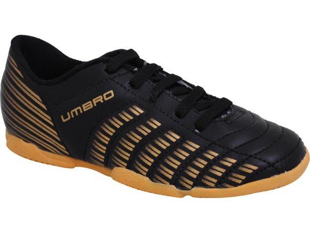 Tênis Masculino Umbro 20045 Prime id jr Preto/dourado