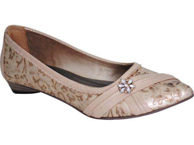 Sapato Feminino Tanara 7521 Avelã