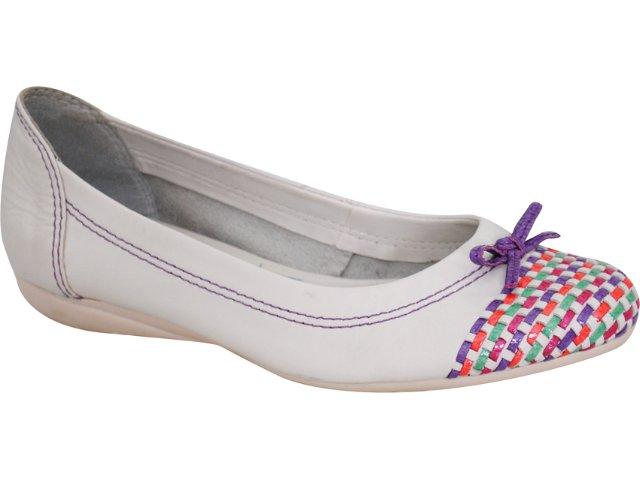 Sapatilha Feminina Bottero 105106 Branco/violeta