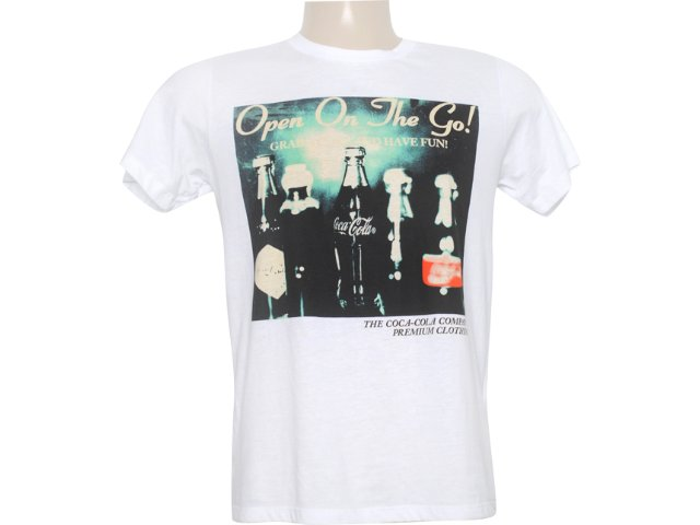 Camiseta Masculina Coca-cola Clothing 353202422 Branco