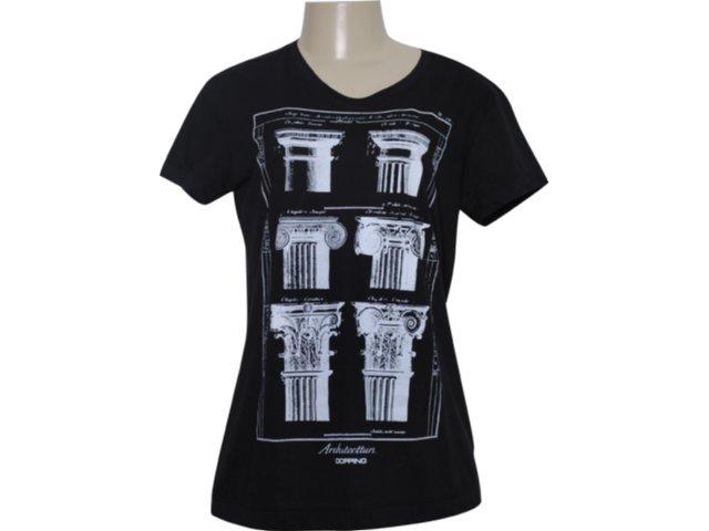 Camiseta Feminina Dopping 015251025 Preto