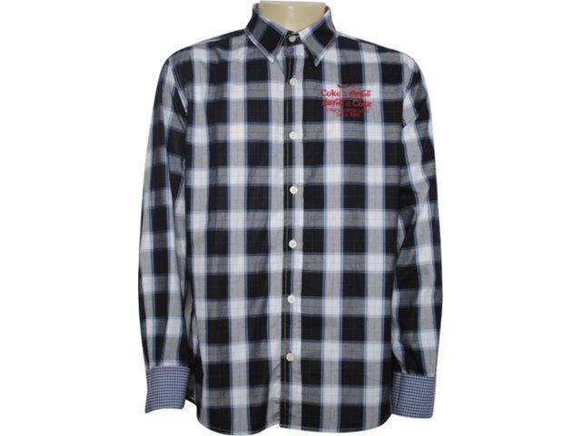 Camisa Masculina Coca-cola Clothing 313200189 Xadrez Azul