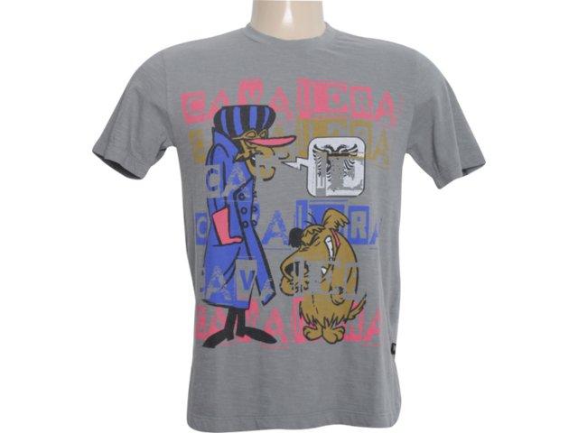 Camiseta Masculina Cavalera Clothing 01.01.5884 Chumbo