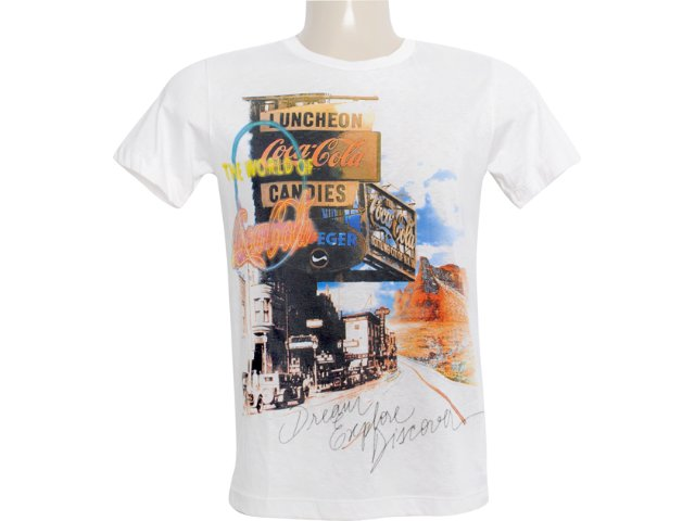 Camiseta Masculina Coca-cola Clothing 353202339 Off White