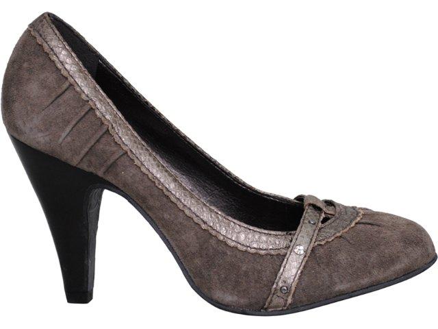 Sapato Feminino Tanara 7722 Cinza