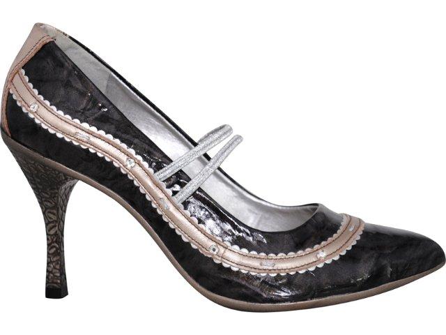 Sapato Feminino Tanara 7863 Grafite