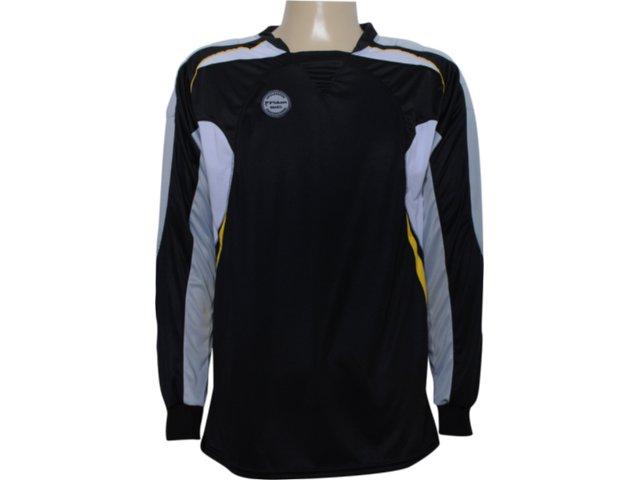 Camisa Masculina Poker 4377 Goleiro Preto