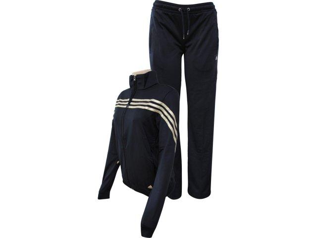Abrigo Feminino Adidas O03218 Preto/dourado