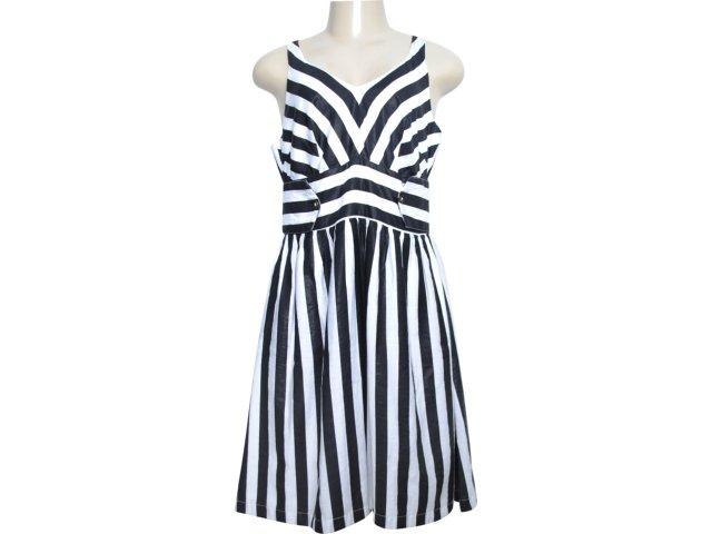 Vestido Feminino Checklist 20.15.0247 Listrado Preto