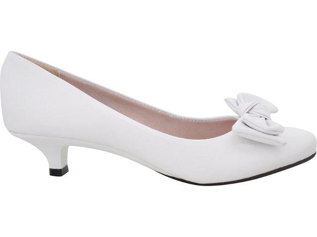 Sapato Feminino Moleca 5572150 Branco