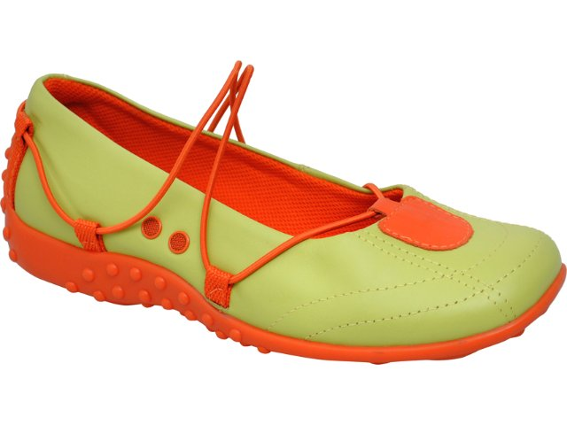 Sapatilha Feminina Tanara 1503 Verde/laranja