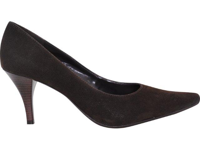 Sapato Feminino Via Marte 10-5605 Nobuck Café