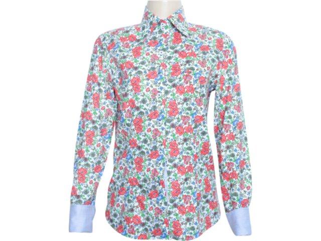 Camisa Feminina Dudalina 232.601.410 Floral Verde