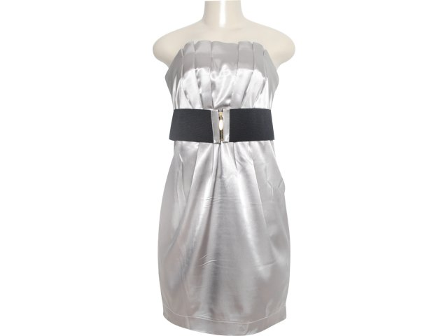 Vestido Feminino Dopping 018019517 Cinza