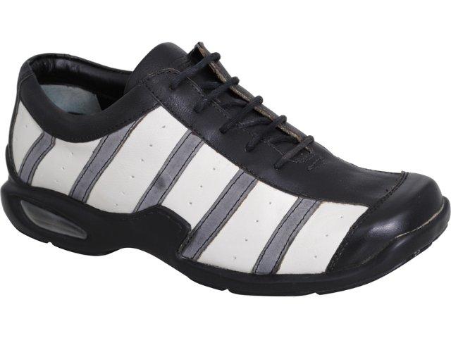Sapato Masculino West Coast 7401 Branco/preto