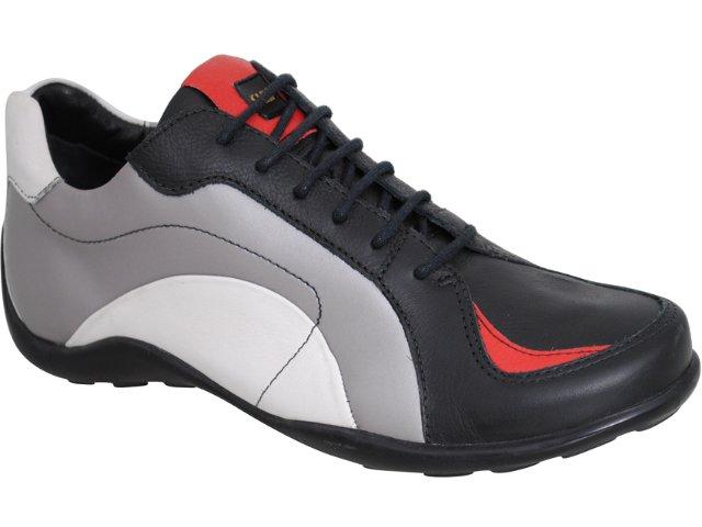 Sapato Masculino West Coast 7313 Prata/preto