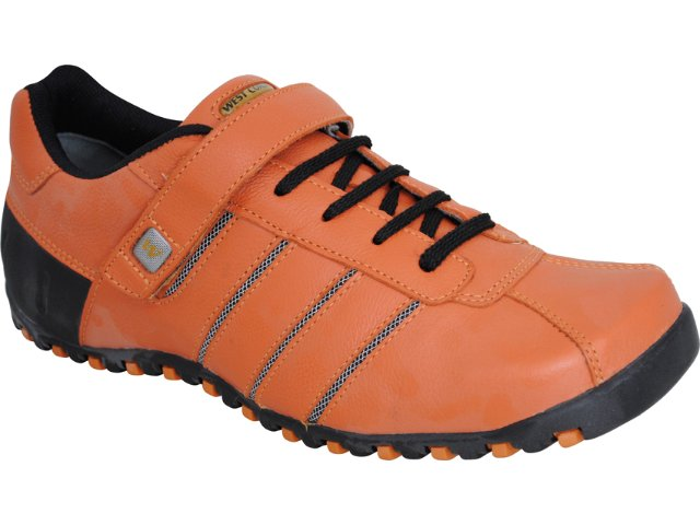 Sapato Masculino West Coast 8400 Laranja