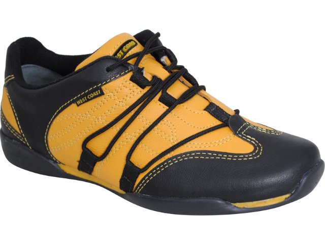 Sapatênis Masculino West Coast 8520 Amarelo/preto