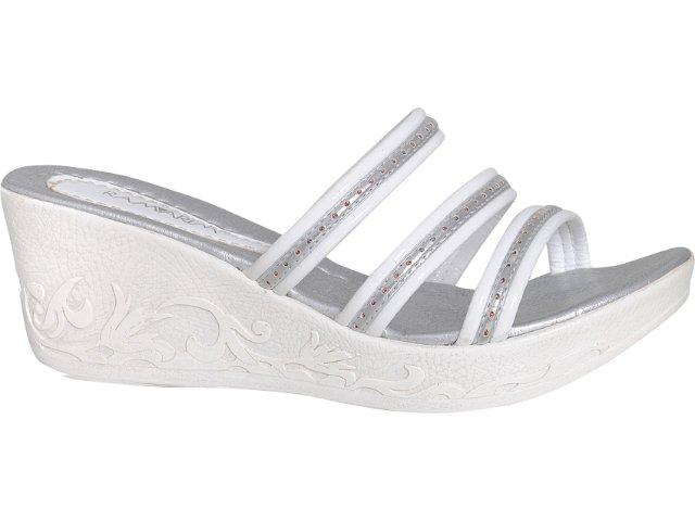 Tamanco Feminino Ramarim 9201/1 Branco/prata