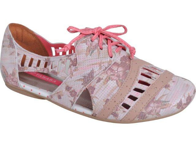 Sapato Feminino Tanara Oxford 2484 Creme