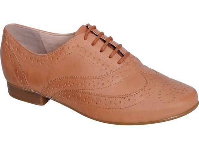 Sapato Feminino Bottero Oxford 149401 Canela