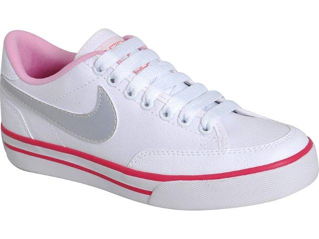 Tênis Feminino Nike 431908-103 Navaro Branco/pink