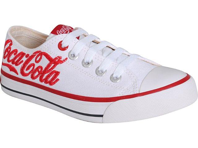 Tênis Feminino Coca-cola Shoes Cc0568000 Branco/vermelho