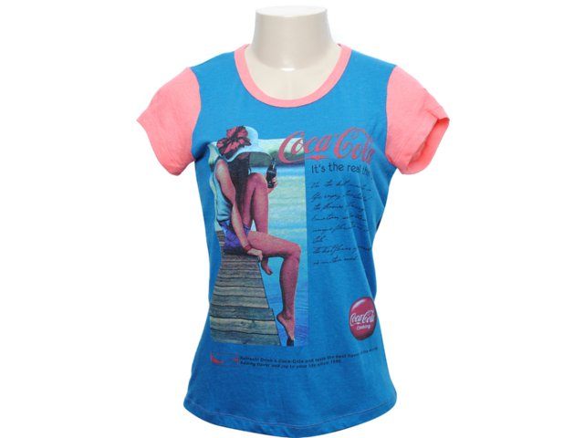 Camiseta Feminina Coca-cola Shoes 343200393 Marinho