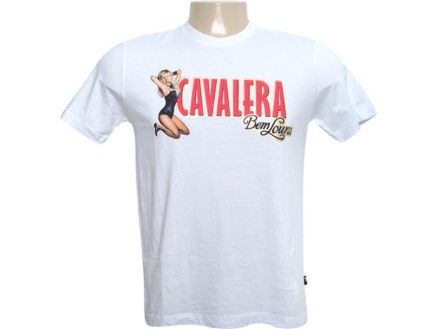 Camiseta Masculina Cavalera Clothing 01.01.6037 Branco