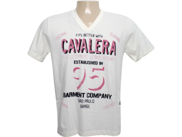 Camiseta Masculina Cavalera Clothing 01.01.6081 Off White